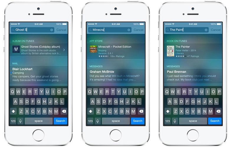iOS 9 spotlight busquedas