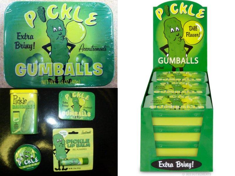 Pickle gumballs
