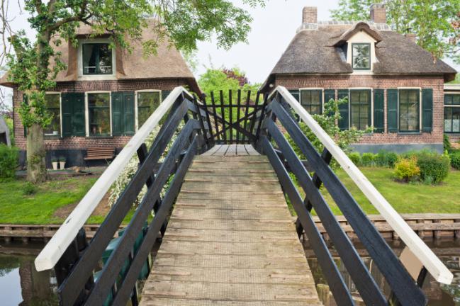 Giethoorn puentes que unen
