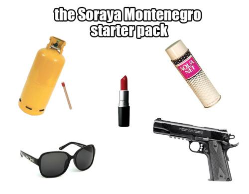 Lo que toda bolsa de una Soraya debe tener.