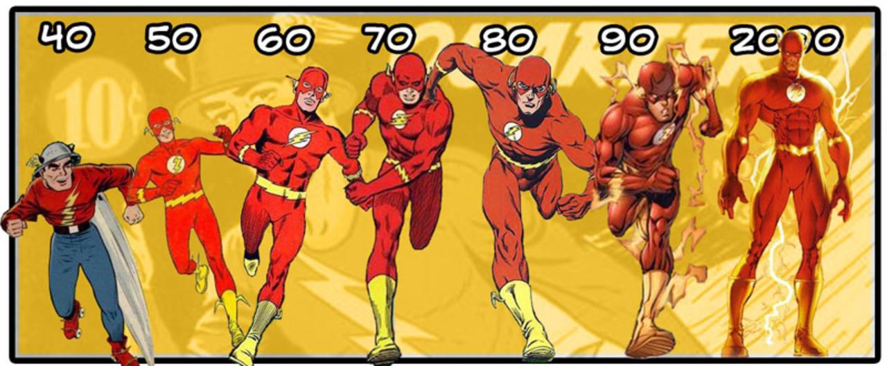 Flash y el cambio de sus trajes