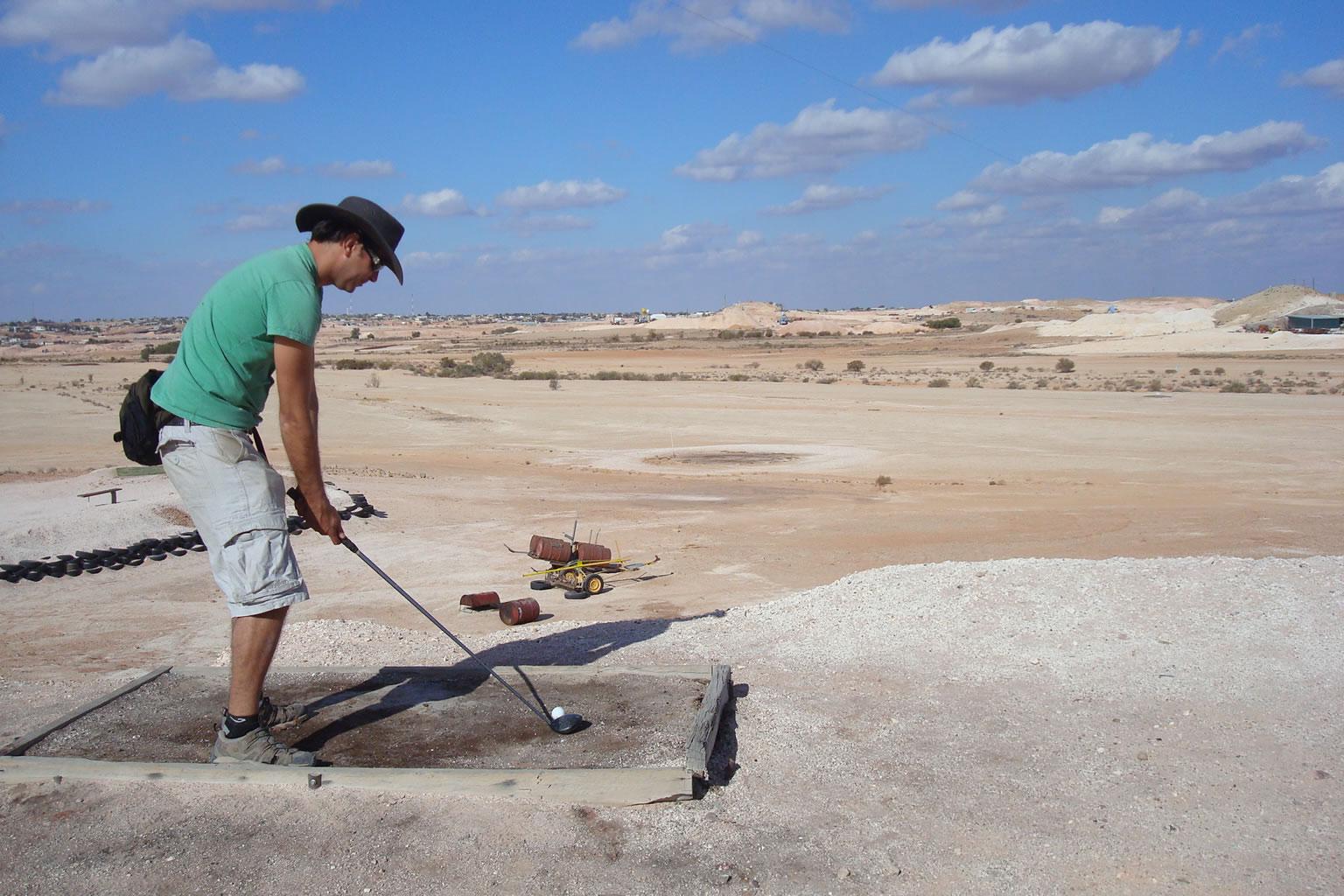 Golf en el desierto