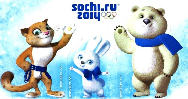 Leopard, Zaya y Bely Mishka Mascotas de Sochi 2014