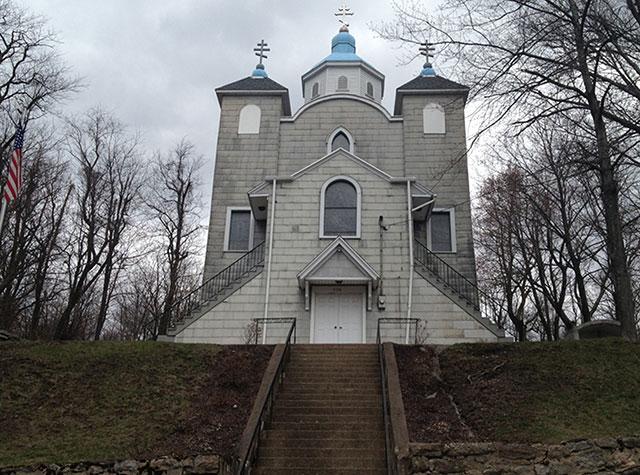 Iglesia que sigue en pie en Centralia