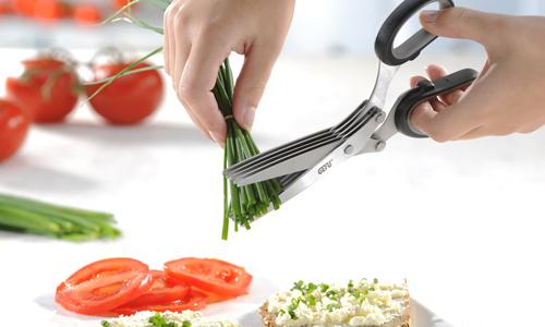 tijera de cocina multiples cuchillas