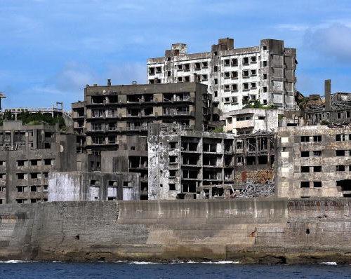 Hashima y sus murallas