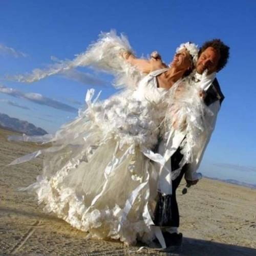 Vestidos de novias plumas