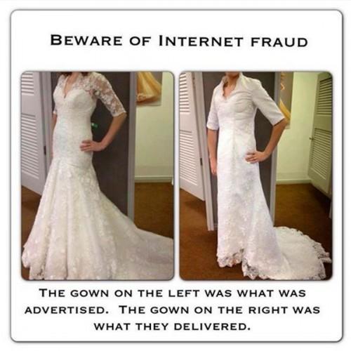 Cuando el vestido no es igual