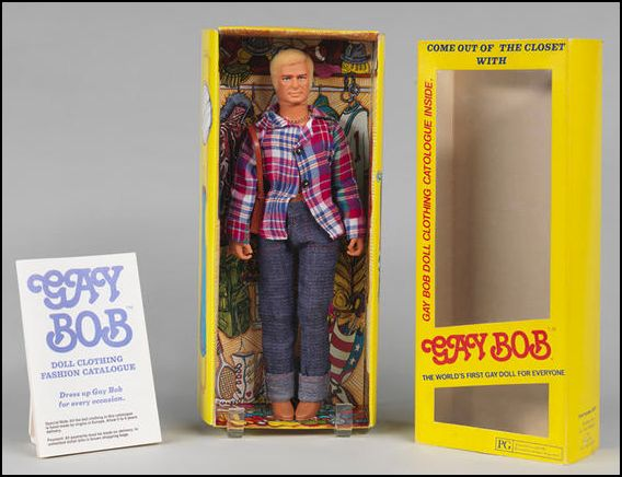 gay bob doll in closet box