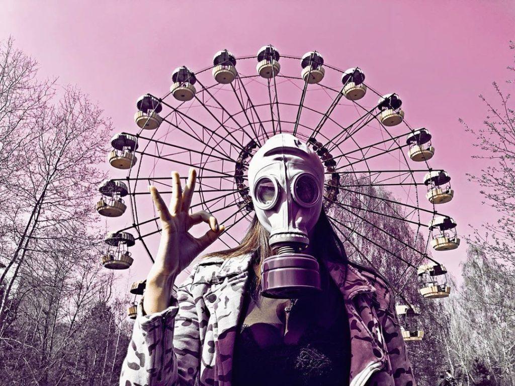 Turistas en Pripyat
