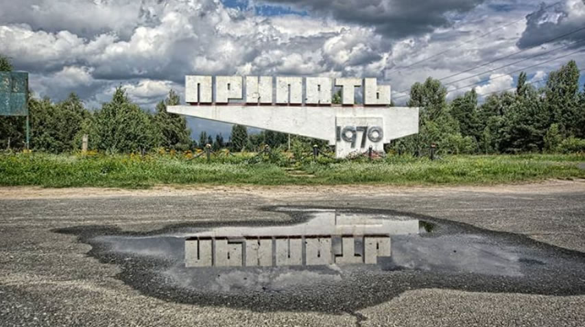 pripyat letrero